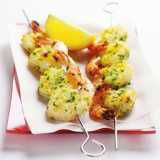 Grilled Garlic Prawns