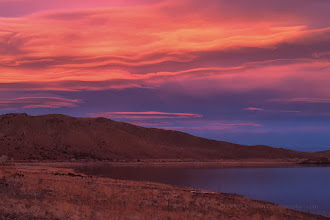 Photo: Lenticular cloud sunset at Topaz lake on the California/Nevada border.