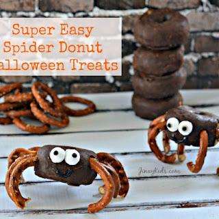 Super Easy Spider Donuts Halloween Treat
