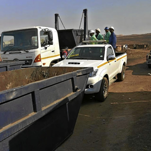 Lucky Mamosadi wanted truck to collect waste from a local mine.