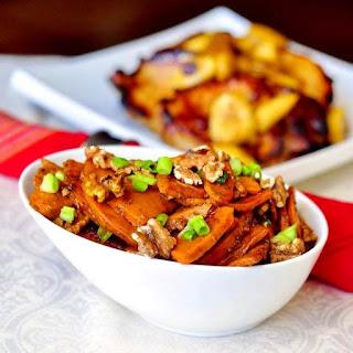 Stir Fried Orange Walnut Sweet Potatoes.