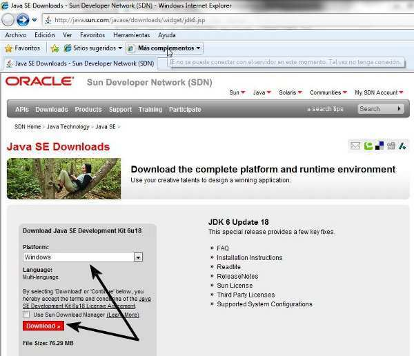 java se downloads sun developer network