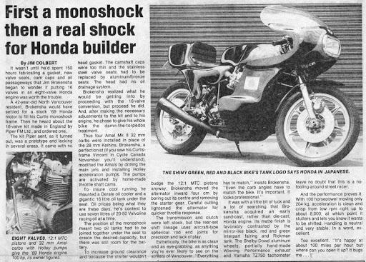Machines et Moteurs vous présente un article consacré à la Honda 4 cylindres Piper double arbre.