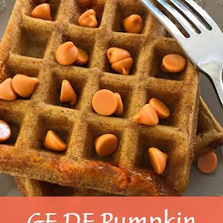 GF DF Pumpkin Waffles.
