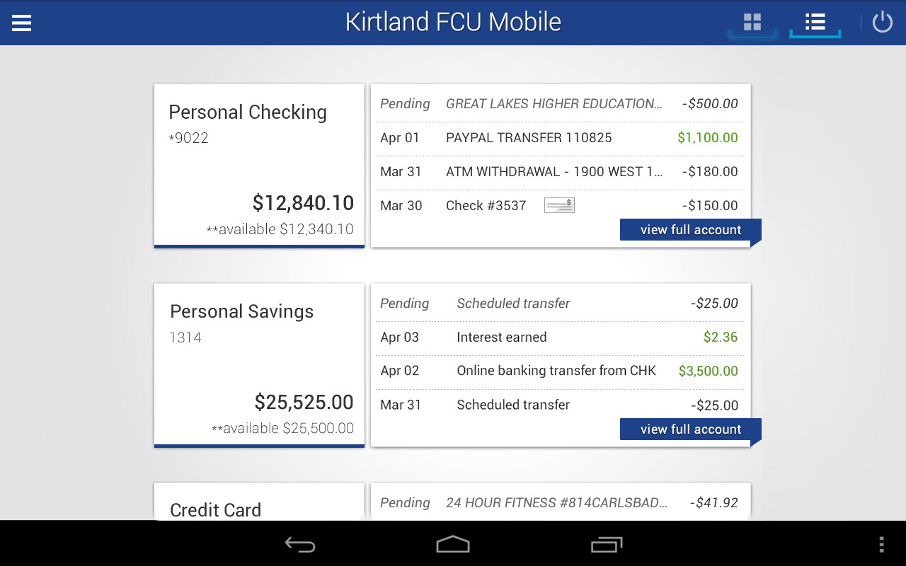 Kirtland Fcu Mobile Banking Android Apps On Google Play