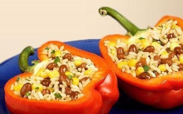 Grillin' Beans Stuffed Peppers Recipe