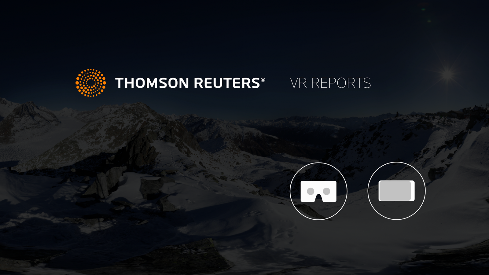 Thomson Reuters VR Reports- screenshot