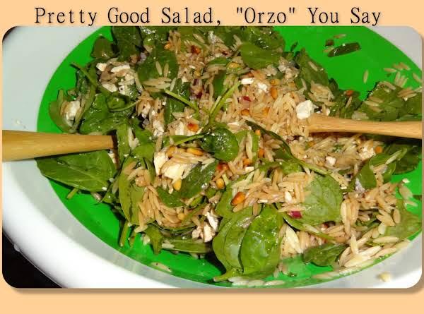 Pretty Good Salad Orzo You Say Recipe