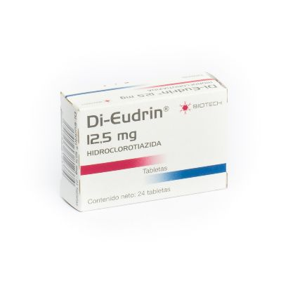 Hidroclorotiazida Di-Eudrin 12.5Mg 24 Tabletas biotech 24 tabletas
