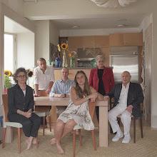 Photo: title: Pamela + Lawrence Rosenthal, Samuel, Noah + Rebecca Wertheimer + Joyce Bernstein, New York City, New York date: 2015 relationship: friends, art, met through MASS MoCA years known: 0-5