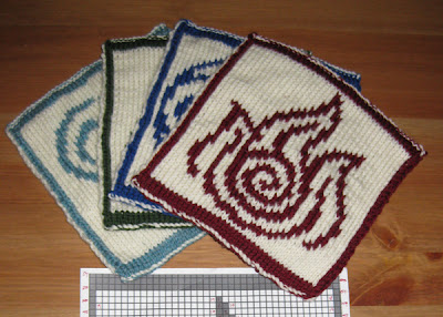 small image of four knit bending emblems