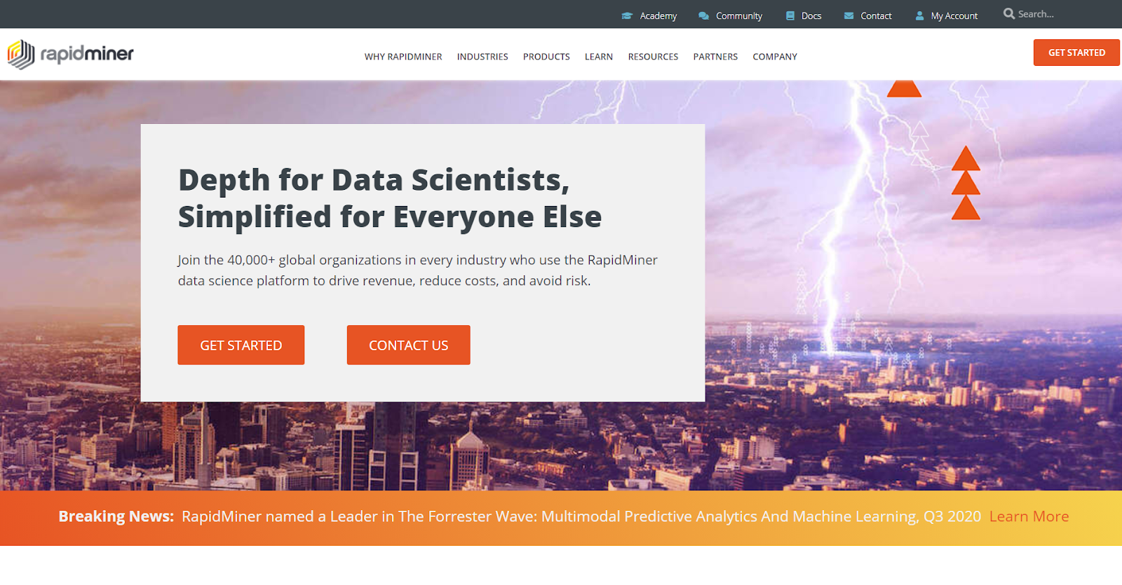 Rapidminer is one of the big data tools