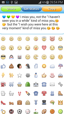 Emoticons Status for Facebook - screenshot