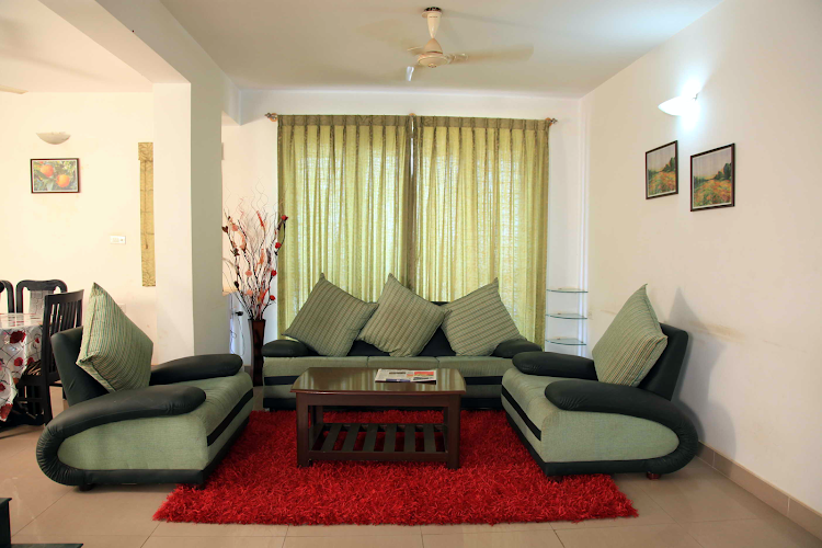 Living area at BTM Layout apartment