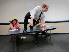 Photo: Performing Shakespeare in class - Fall 2012