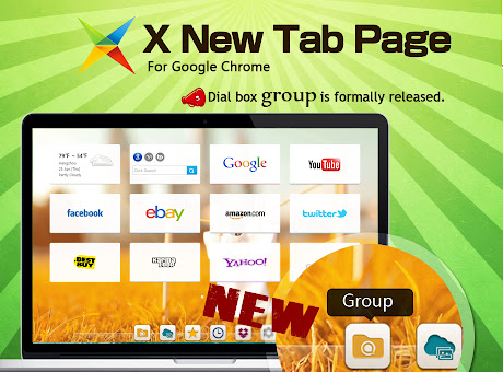 X New Tab Page