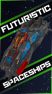 3D kosmická loď závodník - náhled