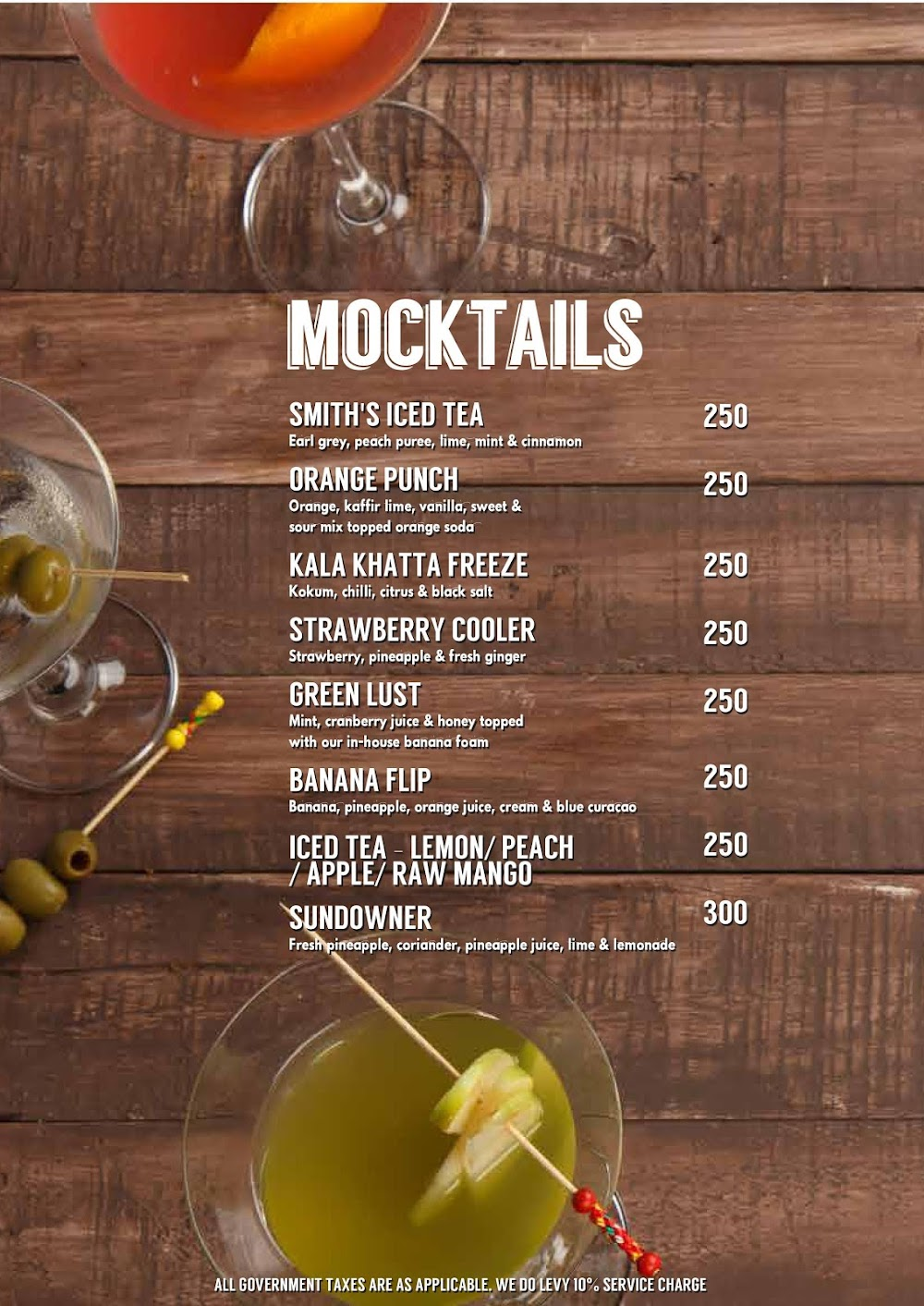 Lord Of The Drinks menu 15