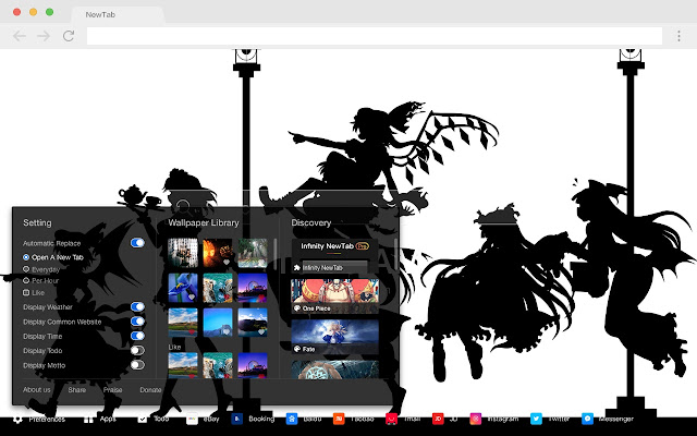Hong Meiling Pop HD Anime New Tab Page Theme