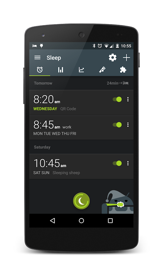 Sleep as Android: captura de pantalla