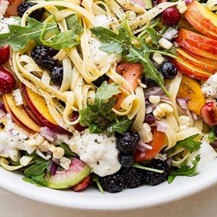 """""""Everything"""" Summer Pasta Salad"""