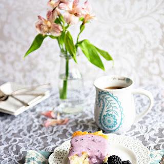 The Best Coffee Cake with Blackberry Glaze