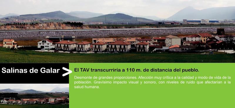 Impacto del TAV en Salinas de Galar, por AHT Gelditu Elkarlana
