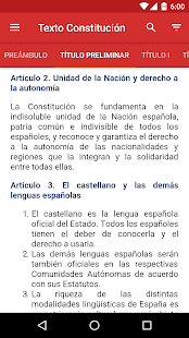Constitución Española. Tests- screenshot thumbnail