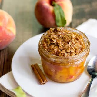 Single Serving Peach Crisp.
