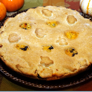 Ghostly Pumpkins Double Crusted Halloween Pizza.