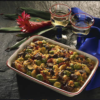 Brussel Sprout and Lamb Casserole.