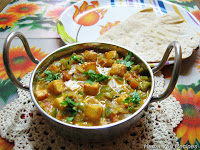 Kadai Paneer or Paneer Capsicum Curry