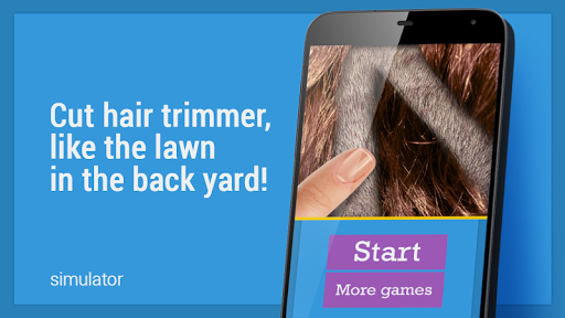 Mower trimmer hair simulator