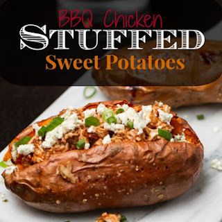 BBQ Chicken Stuffed Sweet Potatoes Recipe