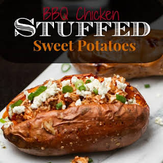 BBQ Chicken Stuffed Sweet Potatoes.