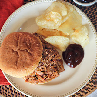 Crockpot Country Style Ribs Pulled Pork Sandwiches.