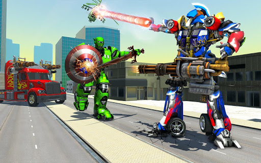 US Police Robot Transform Truck android2mod screenshots 11