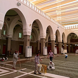 Inside Quba Mosque by Mulawardi Sutanto - Buildings & Architecture Places of Worship ( quba, medina, mosque, holy, travel )