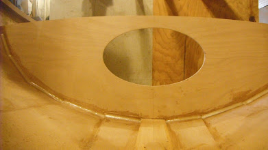 Photo: After the epoxy cured, I put a fillet on the aft seam and filled the front seam.