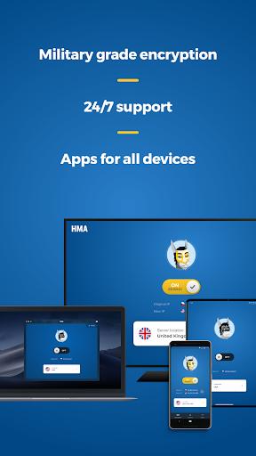 HMA VPN Proxy & WiFi Security, capturas de pantalla de privacidad en línea 5