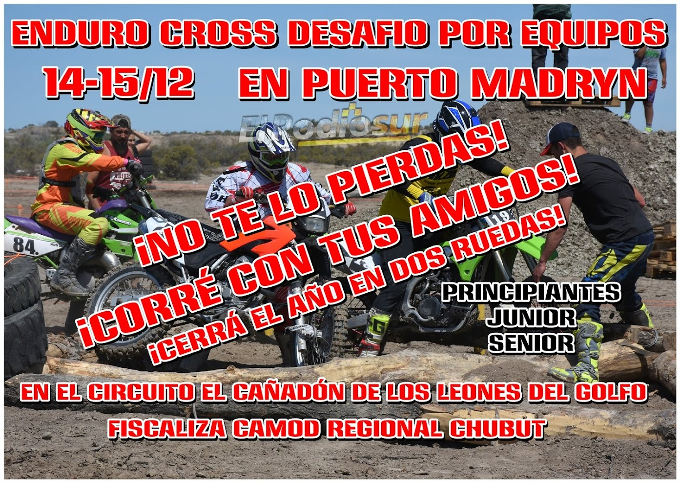El Enduro Cross se corre este finde en Puerto Madryn