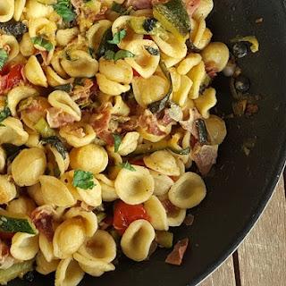 Orecchiette Pasta with Zucchini and Speck Recipe