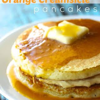 Orange Creamsicle Pancakes.