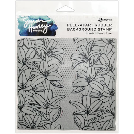Simon Hurley create. Background Stamp 6X6 - Lovely Lilies