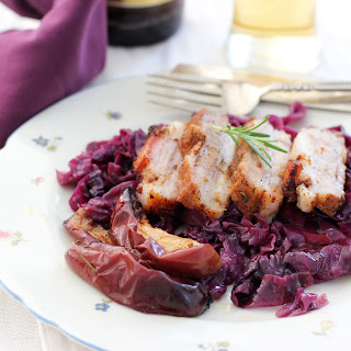 Pork Belly and German Style Cabbage