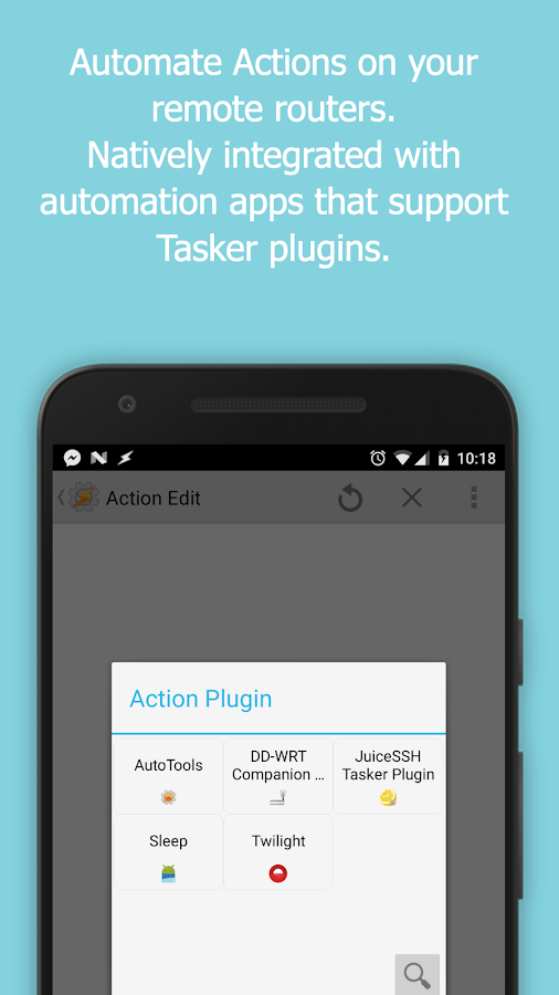 DD-WRT Companion Tasker Plugin- screenshot