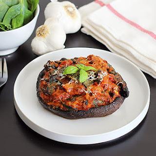 Spinach and Marinara Stuffed Portabella Mushrooms RecipeSpinach and Marinara Stuffed Portabella Mushrooms