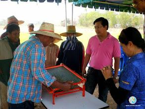 Photo: Preparation of seedling tray for SRI planting ToT1, Tron, Uttaradit