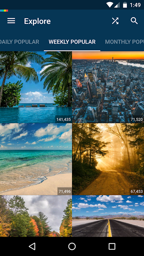 Screenshots of Backgrounds HD (Wallpapers) for iPhone