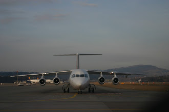 Photo: Jumbolino ready to line up runway 28 in Zurich http://www.swiss-flight.net